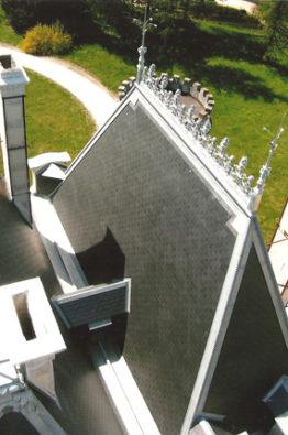 Vue aérienne du château de souillac